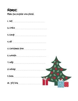 Christmas Noun Packet