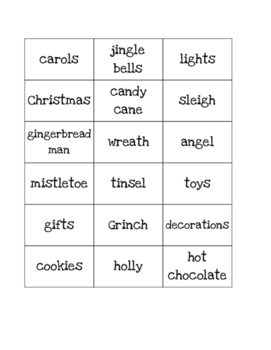 Christmas Noun Sort