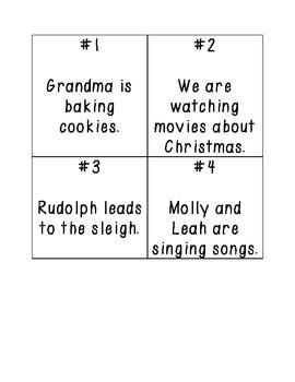 Christmas Noun Task Cards