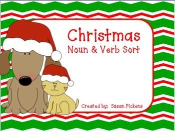 Christmas Noun & Verb Sort