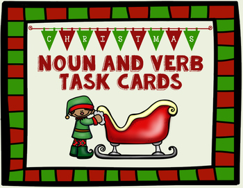 Christmas Noun and Verb Identification Cards