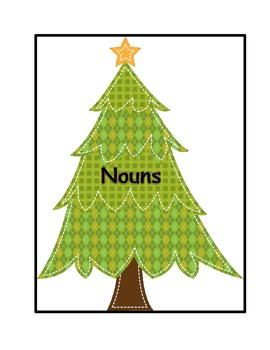 Christmas Noun and Verb Sort