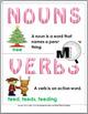 Nouns and Verbs Sort - Christmas Theme