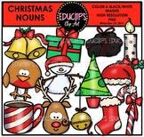 Christmas Nouns Clip Art Bundle {Educlips Clipart}