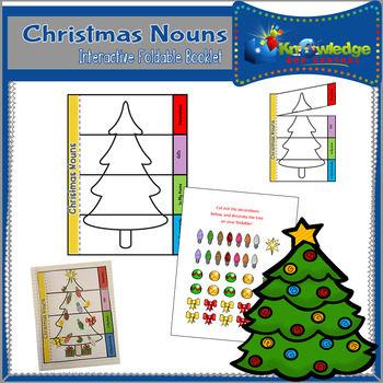 Christmas Nouns Interactive Foldable Booklet