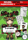 Nouns, Verbs and Adjectives Christmas Activities with Crafts!