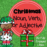 Christmas Nouns, Verbs, and Adjectives Center