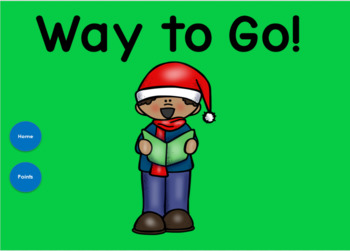 Christmas Nouns, Verbs and Adjectives for use with Google Slides™