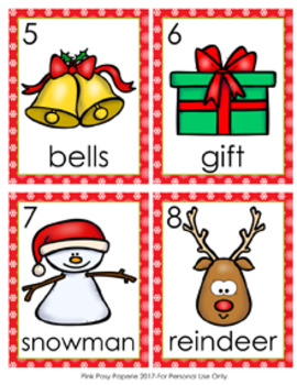 Christmas Nouns Write The Room Activity