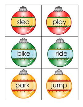 Christmas Nouns and Verbs