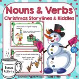 Christmas Nouns and Verbs Task Cards