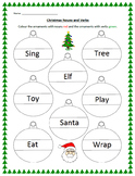 Christmas Nouns and Verbs Worksheet