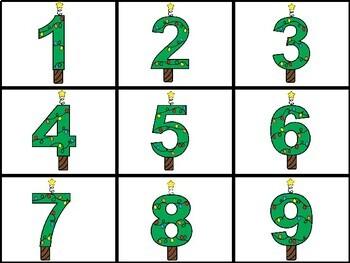 Christmas Number Bin