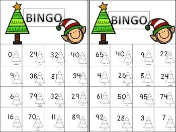 Christmas Number Bingo 0-100