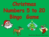 Christmas Number Bingo Games- Numbers 5 to 20