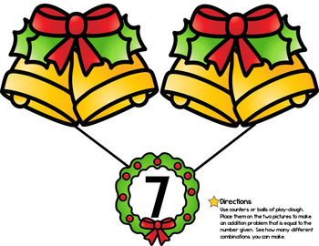 Christmas Number Bond Activity Mats