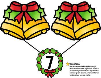 Christmas Number Bond Activity Mats {FREE}