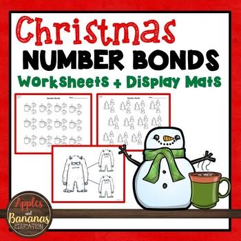 Christmas Math Worksheets - Number Bonds