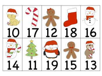 Christmas Number Cards 0-30