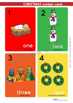 Christmas Number Cards 1-20