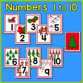 Christmas Number Cards - A Christmas Math Center for Early Learners
