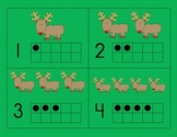 Christmas Number Cards with Ten Frame: Rudolph the Red-Nosed Reindeer, 1-10