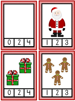 Christmas Number Clip Cards