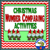 Christmas Counting Number Comparing Activities for Greater Than and Less Than