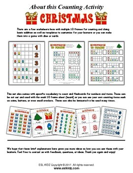 Christmas Number Counting Activities