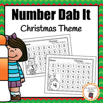 Christmas Number Dab It Worksheets