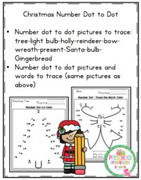 Christmas Number Dot to Dot