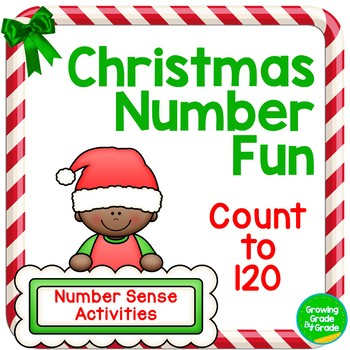 Christmas Number Fun: Counting to 120   1.NBT.1