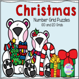 Christmas Number Grid Puzzles 100 and 120 Grids
