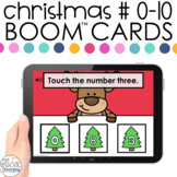 Christmas Number ID 0-10 Boom™ Cards - Distance Learning f