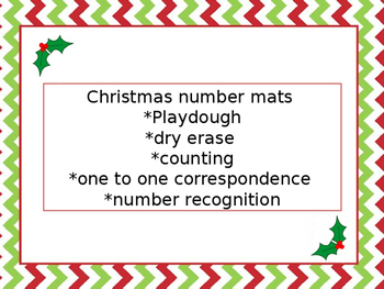 Christmas Number Mat