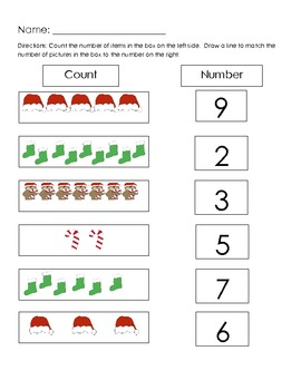 Christmas Number Match 1-20