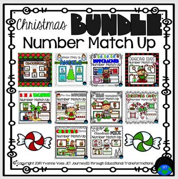 Christmas Number Match Up Bundle