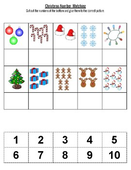 Christmas Number Matching 1-10