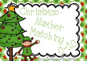 Christmas Number Matching Cards -Set 2