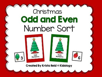 Christmas Number Odd and Even  Sorting Activity