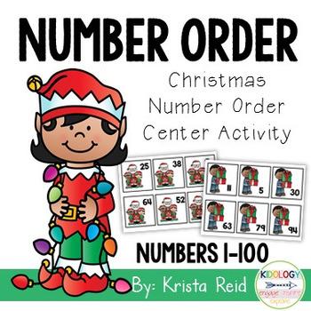 Numbers 1-100 - Christmas