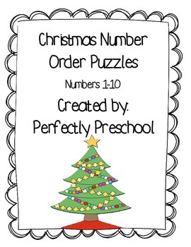 Christmas Number Order Puzzles {Dollar Deal}