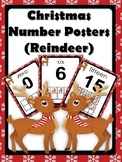 Christmas Number Posters (Reindeer theme)