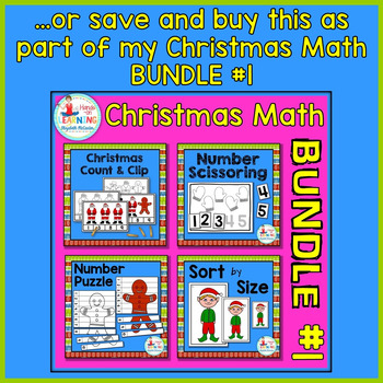 Christmas Number Puzzle - A Christmas Math Center for Early Learners