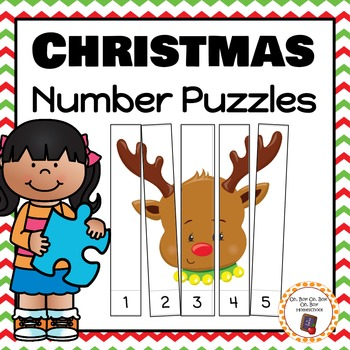 Christmas Number Puzzles For Rote and Skip Counting
