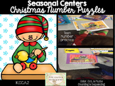 Christmas Number Puzzles Kindergarten: Number Identification and Sequencing
