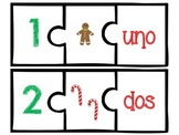 Christmas Number Puzzles in Spanish