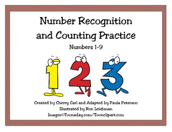 Christmas Number Recognition and Counting Activity Set