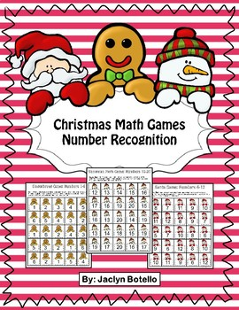 Christmas Number Recognition Game for Centers