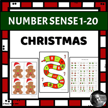 Christmas Number Sense -- 1-20